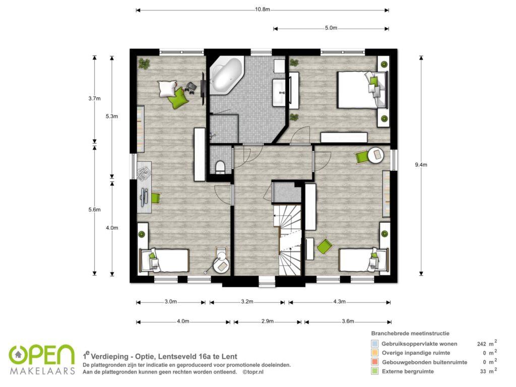 Eerste verdieping (optie)