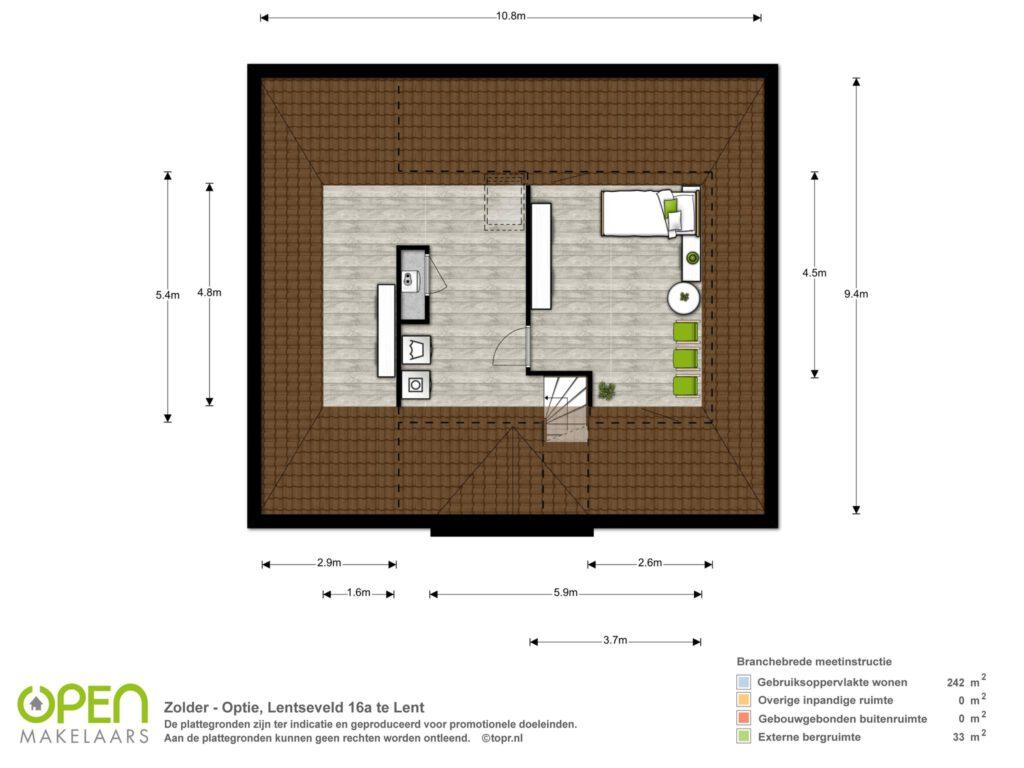 Tweede verdieping (optie)